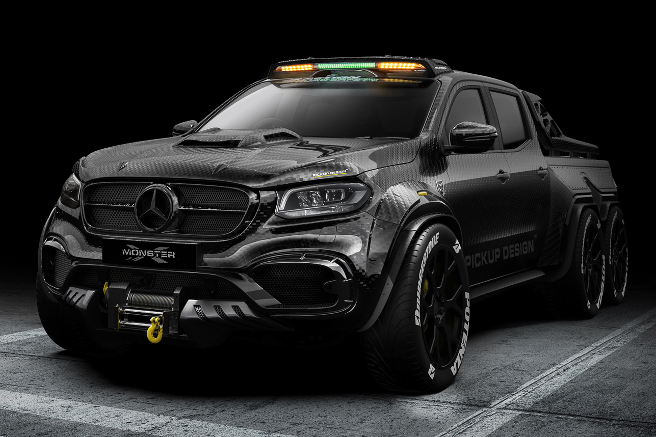 Deze Mercedes Benz X Class 6x6 Is Een Monster Van Een Pick