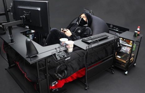 De ideale gaming-setup inclusief je eigen gaming-bed
