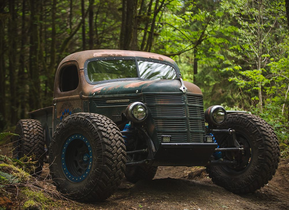 De Trophy Rat is een zieke offroad pick-up truck