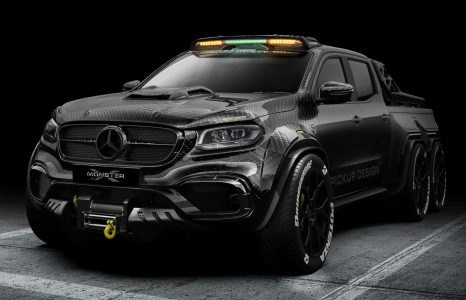 Deze Mercedes-Benz X-class 6×6 is een monster van een pick-up