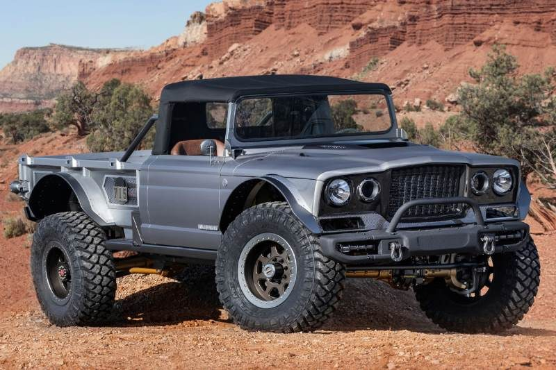 Het concept van de Jeep Gladiator Five-Quarter is zeer bruut